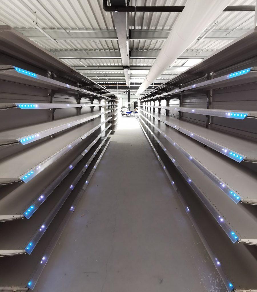 étagères picking lumineux pick-to-light