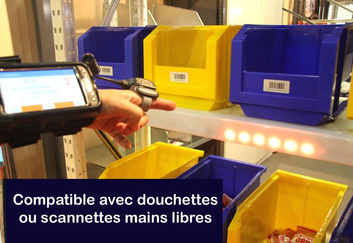 Utilisation de scannette main libre avec Go-to-Light